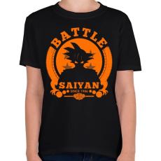 PRINTFASHION battle saiyan - Gyerek póló - Fekete