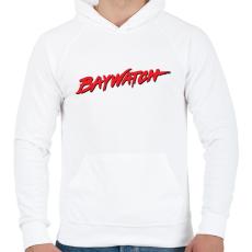 PRINTFASHION Baywatch - Férfi kapucnis pulóver - Fehér