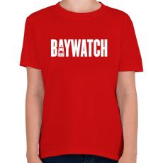 PRINTFASHION BAYWATCH - Gyerek póló - Piros
