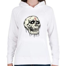 PRINTFASHION Beast Design Skull - Női kapucnis pulóver - Fehér
