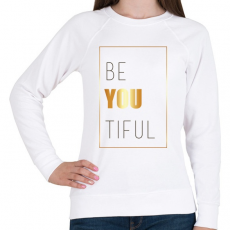 PRINTFASHION Beatiful - Női pulóver - Fehér