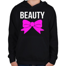 PRINTFASHION BEAUTY - Gyerek kapucnis pulóver - Fekete