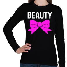 PRINTFASHION BEAUTY - Női hosszú ujjú póló - Fekete