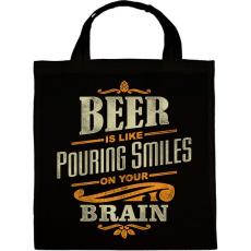PRINTFASHION Beer Smiles - Vászontáska - Fekete