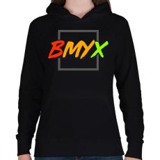 PRINTFASHION BeMyEx - Női kapucnis pulóver - Fekete
