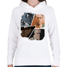PRINTFASHION Best of Clint Eastwood - Női kapucnis pulóver - Fehér