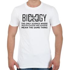 PRINTFASHION BIOLOGY - Férfi póló - Fehér