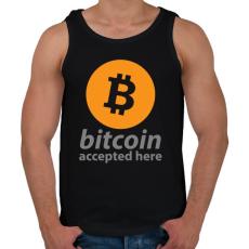 PRINTFASHION Bitcoin elfogadó - Férfi atléta - Fekete