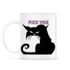 PRINTFASHION Black cat - Bögre - Fehér