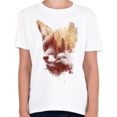 PRINTFASHION Blind fox - Gyerek póló - Fehér