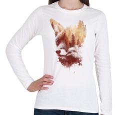PRINTFASHION Blind fox - Női hosszú ujjú póló - Fehér