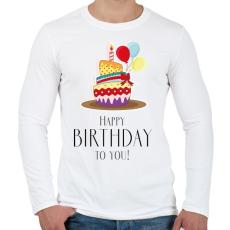 PRINTFASHION Boldog születésnapot!  - Férfi hosszú ujjú póló - Fehér