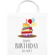 PRINTFASHION Boldog születésnapot!  - Vászontáska - Fehér