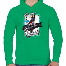 PRINTFASHION Bombázó királynő - Férfi kapucnis pulóver - Zöld
