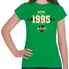 PRINTFASHION born-in-1995-cream-choco - Női póló - Zöld