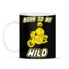 PRINTFASHION born-to-be-wild-yellow - Bögre - Fekete