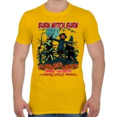 PRINTFASHION Boszorkányégetés - Férfi póló - Sárga