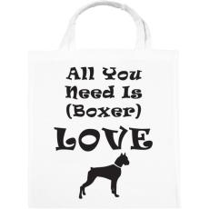 PRINTFASHION Boxer Love - Vászontáska - Fehér