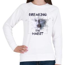 PRINTFASHION breakingthehabbit-01.png - Női pulóver - Fehér