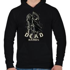 PRINTFASHION Bringás halál - Férfi kapucnis pulóver - Fekete