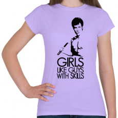 PRINTFASHION Bruce Lee - Női póló - Viola