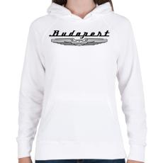 PRINTFASHION budapest-ikarus-black - Női kapucnis pulóver - Fehér