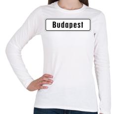 PRINTFASHION budapest - Női hosszú ujjú póló - Fehér