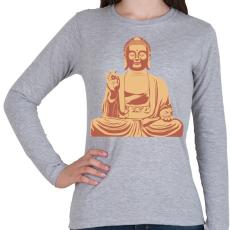 PRINTFASHION Buddha - Női hosszú ujjú póló - Sport szürke