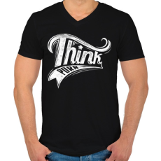 PRINTFASHION Buja gondolatok - Férfi V-nyakú póló - Fekete