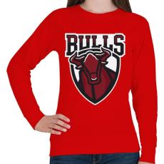PRINTFASHION Bulls - Női pulóver - Piros