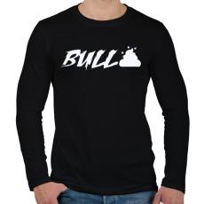 PRINTFASHION Bullshit - Férfi hosszú ujjú póló - Fekete