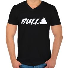 PRINTFASHION Bullshit - Férfi V-nyakú póló - Fekete