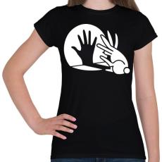 PRINTFASHION BUNNY - Női póló - Fekete