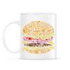 PRINTFASHION Burger - Bögre - Fehér