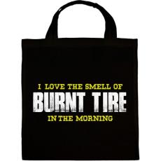 PRINTFASHION Burnt Tire - Vászontáska - Fekete