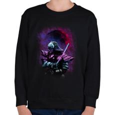 PRINTFASHION Busidó - Gyerek pulóver - Fekete