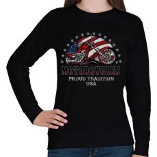 PRINTFASHION Büszke hagyomány - Női pulóver - Fekete