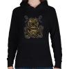 PRINTFASHION Búvár polip - Női kapucnis pulóver - Fekete