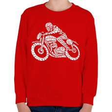 PRINTFASHION Cafe racer - Gyerek pulóver - Piros