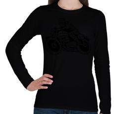 PRINTFASHION Cafe racer - Női hosszú ujjú póló - Fekete