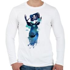 PRINTFASHION Captain Hook - Férfi hosszú ujjú póló - Fehér