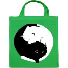 PRINTFASHION Cicus yin yang - Vászontáska - Zöld