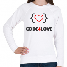 PRINTFASHION CODE4LOVE - Női pulóver - Fehér