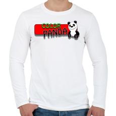 PRINTFASHION Color panda android game - Férfi hosszú ujjú póló - Fehér