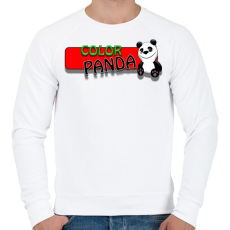 PRINTFASHION Color panda android game - Férfi pulóver - Fehér