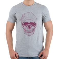 PRINTFASHION Cool skull - Férfi póló - Sport szürke