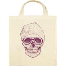 PRINTFASHION Cool skull - Vászontáska - Natúr