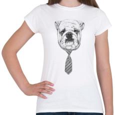 PRINTFASHION Cooldog - Női póló - Fehér