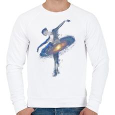 PRINTFASHION Cosmic dance - Férfi pulóver - Fehér