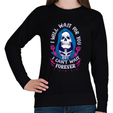 PRINTFASHION Csak várj - Női pulóver - Fekete